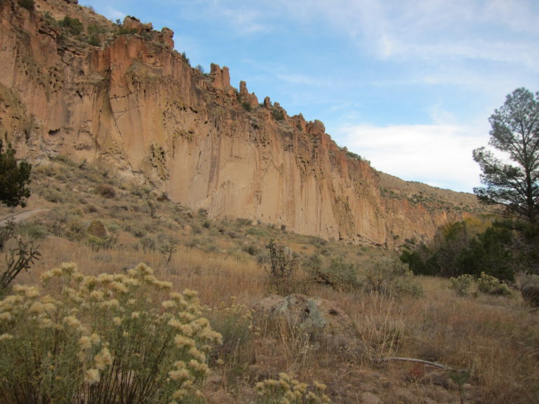 cliff walls at Bandelier National Monument