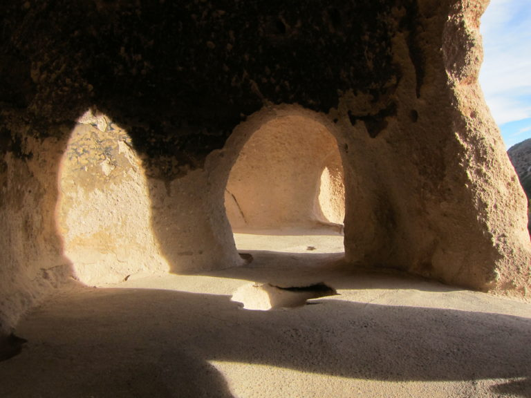 interior room of a Bandelier ruin