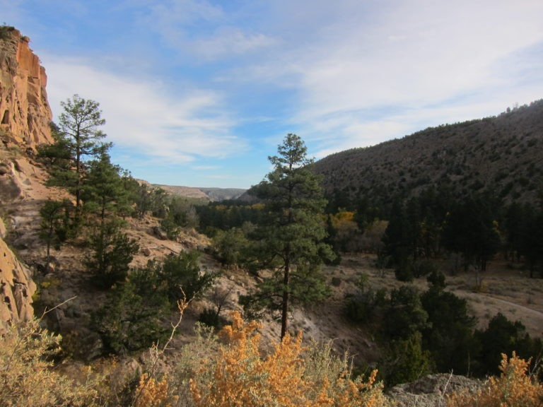 image of valley at Bandelier National Monument