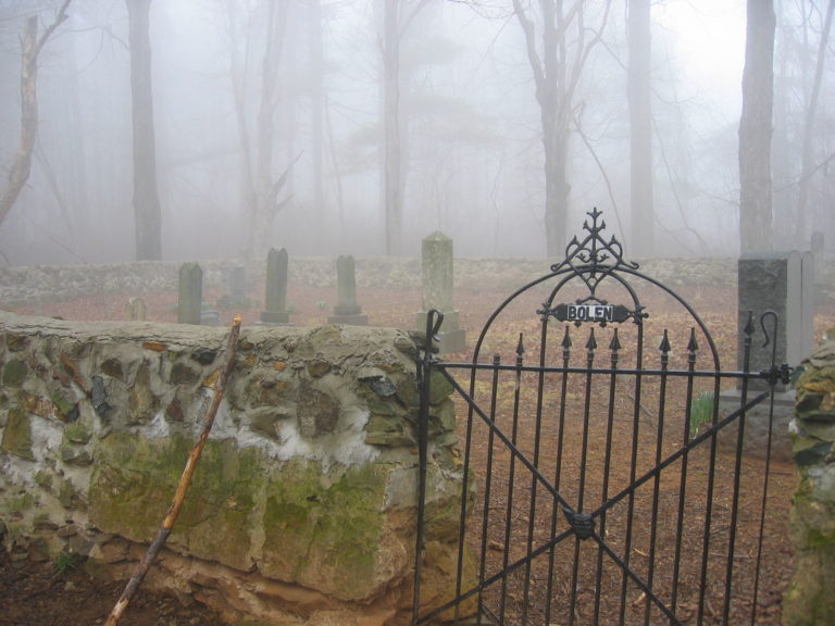 image of a graveyard with the name Bolen