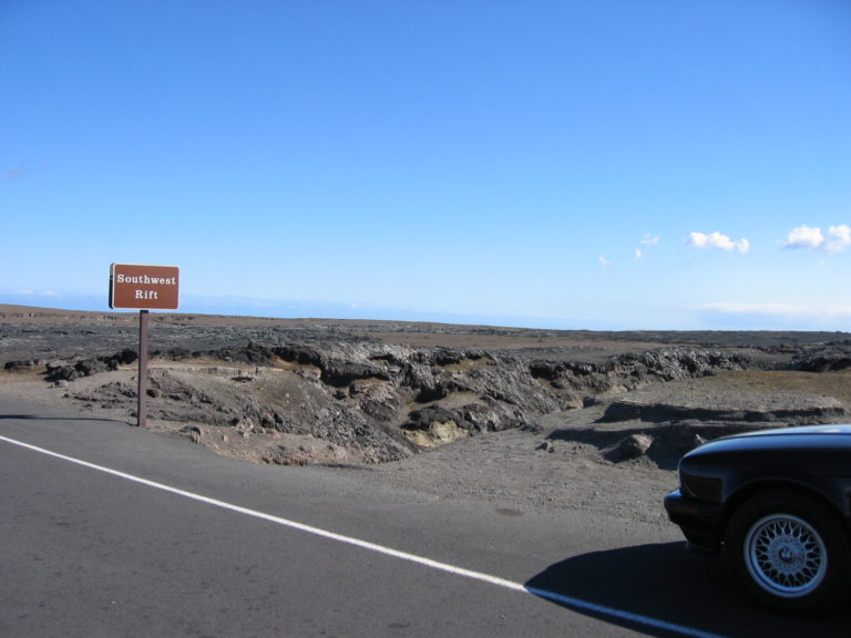 lava fields on Chain of Craters Road