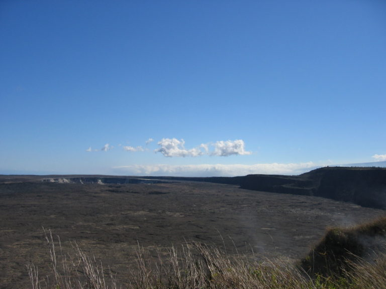 distant photo of Halemaumau Crater 2005