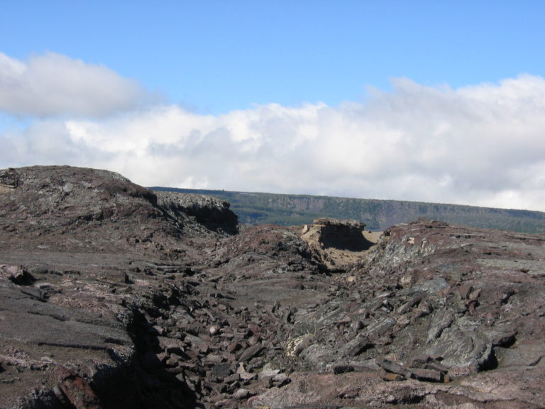 old lava fields on Chain of Craters Road