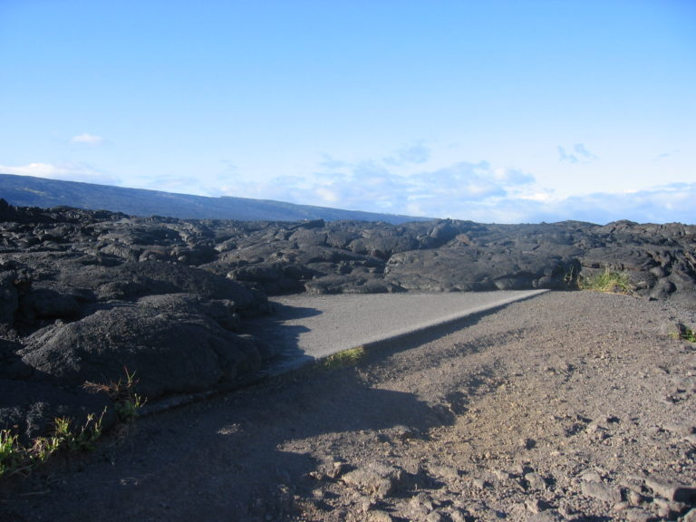 old lava flow covering Chain of Craters Road