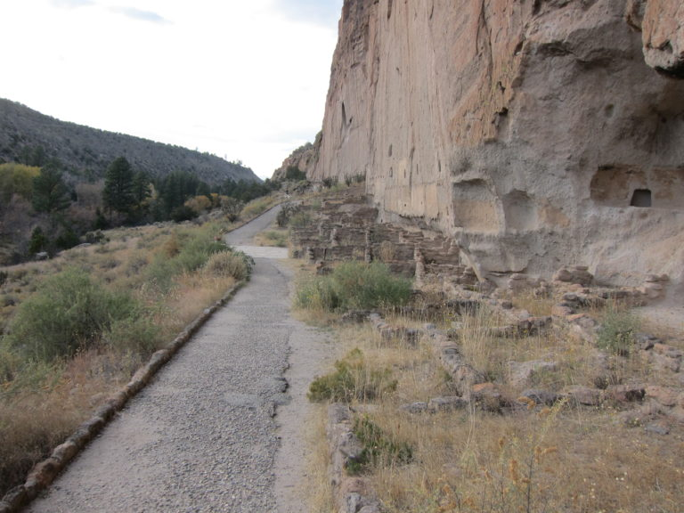 ruins along the Bandelier pathway