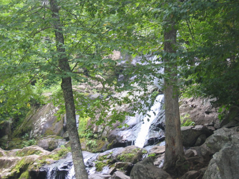 image of a large waterfall in Shenandoah National Park