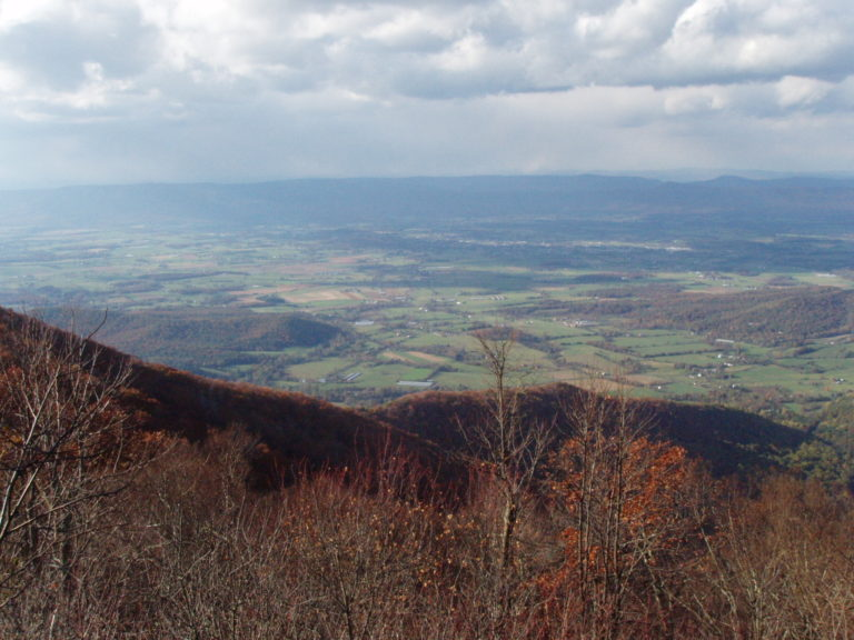 view of the Shenandoah Valley in autumn