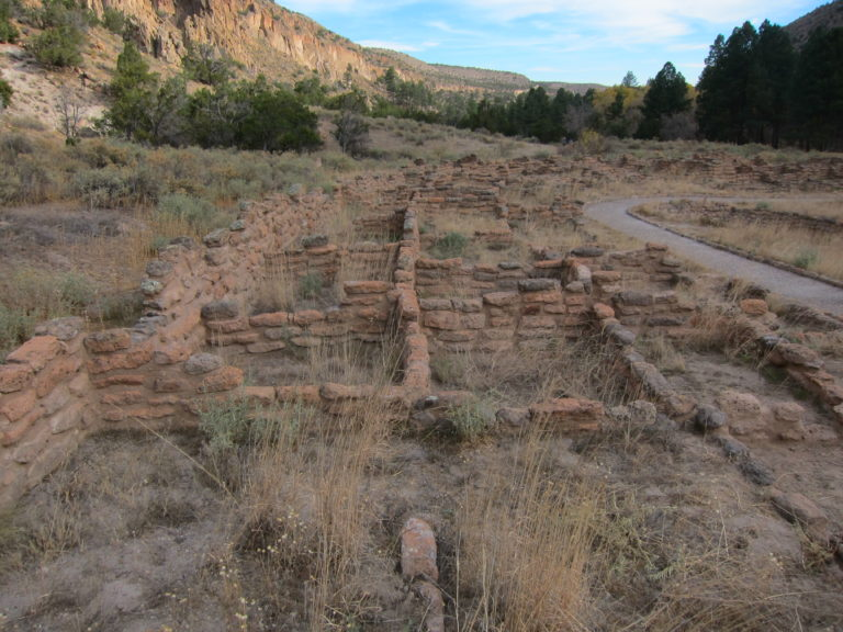 small square ruins at Bandelier National Monument