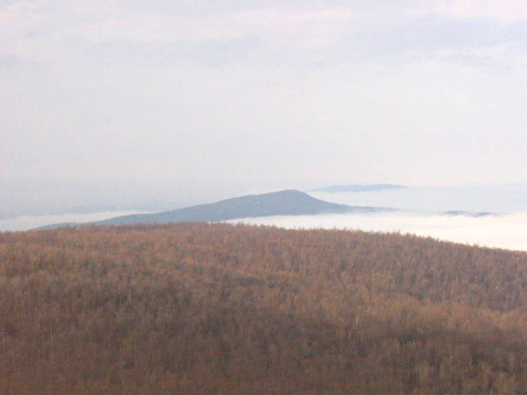 cloud cover over the Shenandoah Valley