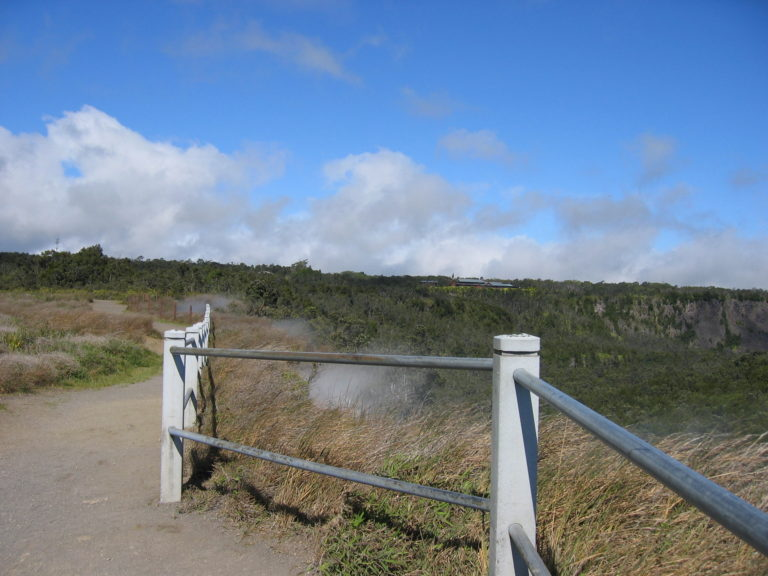 steam vents on Crater Rim Drive 2005