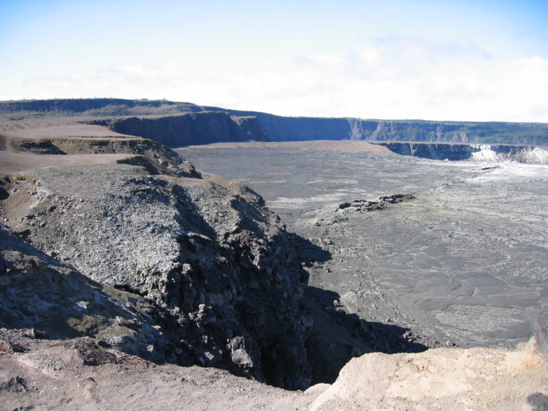 image of craters at Volcanoes National Park July 2005