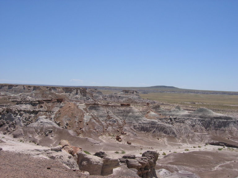 rocky badlands with crumbling sand in the Painted Desert