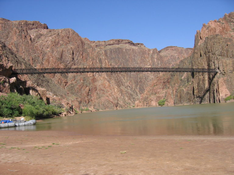 the Black Suspension Bridge crossing the Colorado River