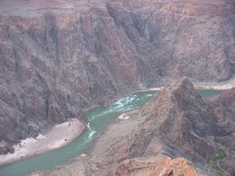 the Colorado River view from Plateau Point