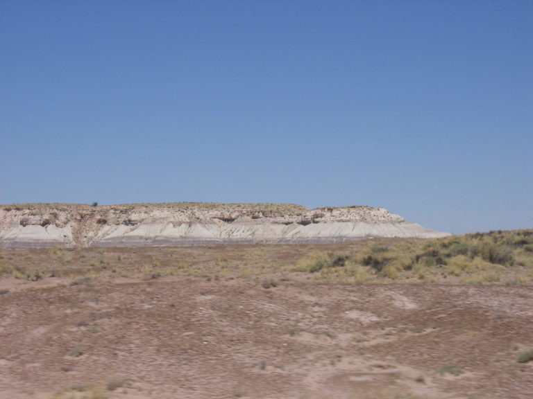 a single badland rock formation