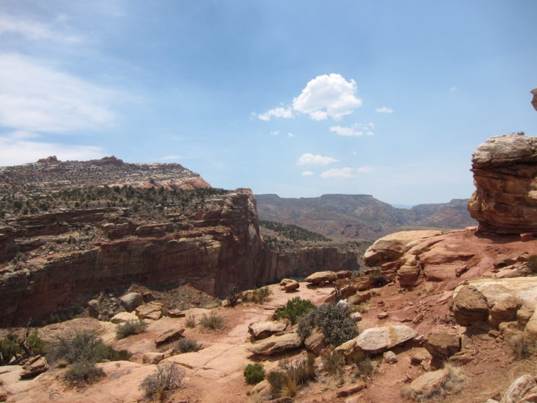 Capitol Reef overlook from Hickman Bridge Trail