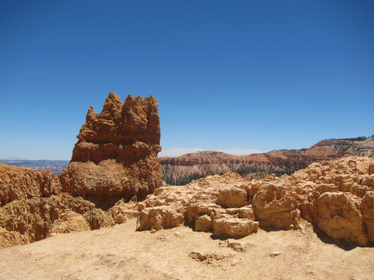 a single hoodoo outcropping in Bryce Canyon