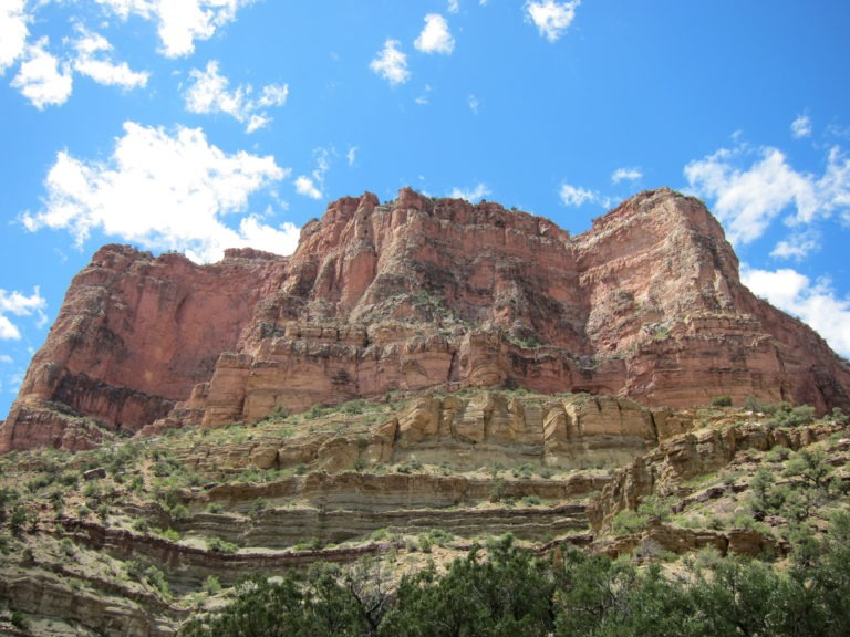 large butte on the North Kaibab Trail
