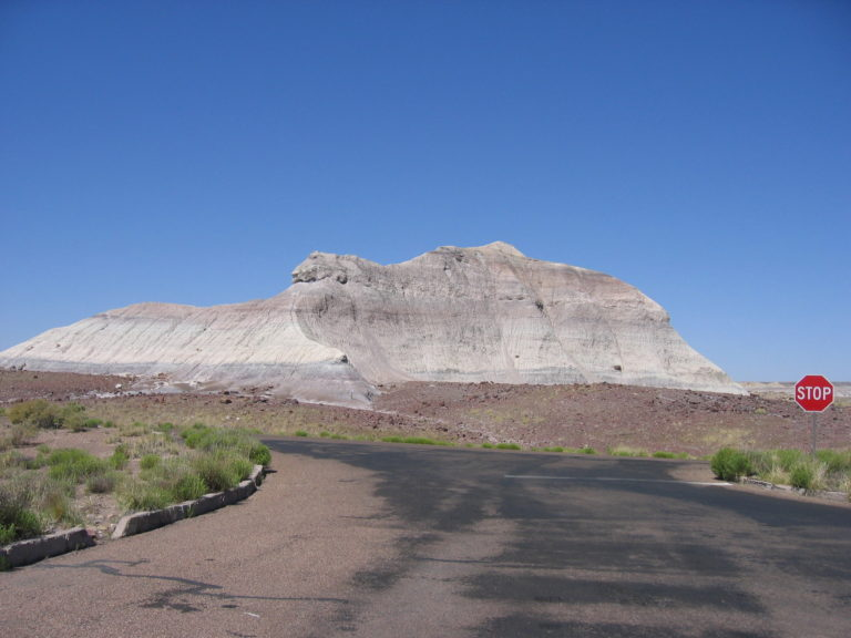 gray rock butte in Arizona Painted Desert