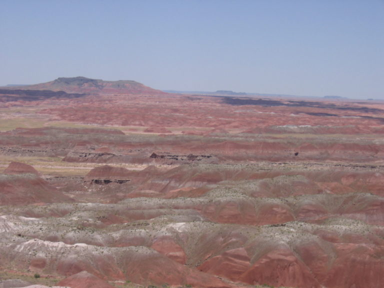 closeup shot of red rock formations in Painted Desert