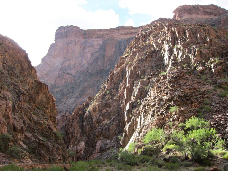 bright bare rocky canyon walls