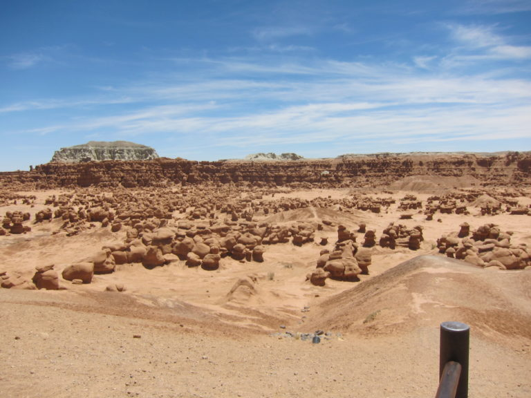 wide shot of goblin formations at Goblin Valley State Park