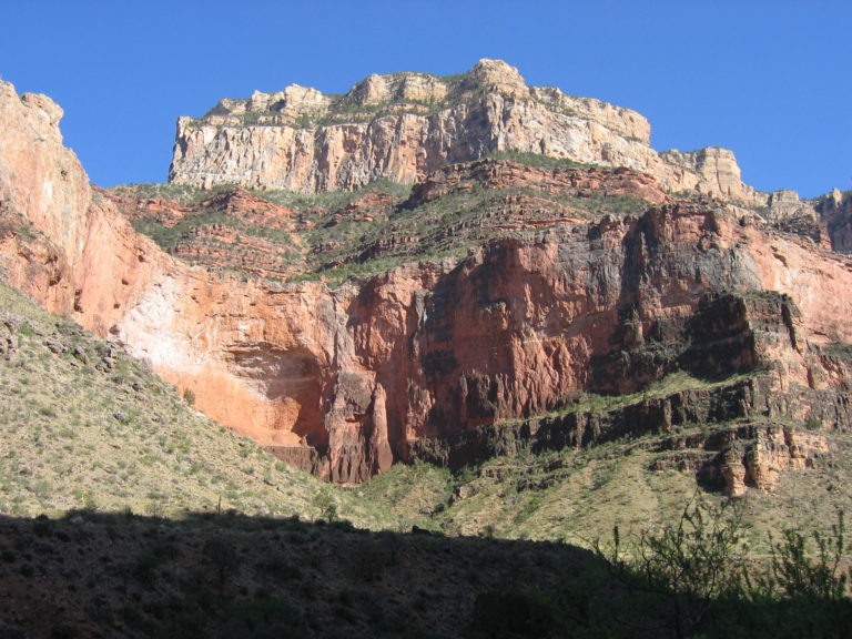 South Rim cliffs from Indian Gardens Campground