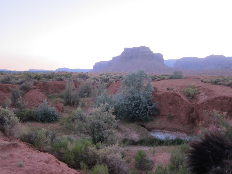 Utah desert buttes at dusk